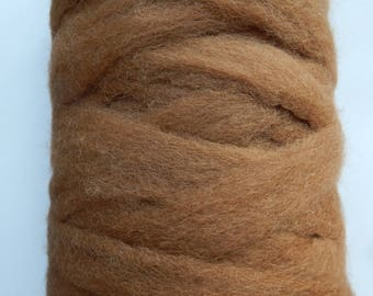 Super Soft Alpaca Rovings in Natural Dark Fawn, Spinning Supplies, Felting Supplies, Doll Making, Weaving
