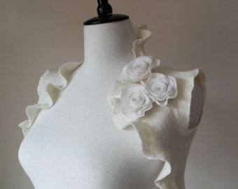 Bridal Shrugs Boleros Ivory Wedding Bolero Jacket for Weddings Special Occasions