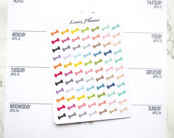 Mini Dumbbell (matte planner stickers, perfect for planners)