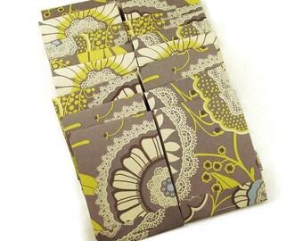 20  Matchbook Notepads  Matchbook Favors in  Gray Lacework