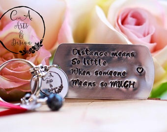 Long Distance Friendship Gifts, Best Friends Gifts, Customised Keychain, Snowflake Obsidian Pendant.