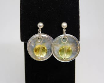 CLEARANCE Seashell and Silver Earring set