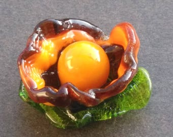 Collection of Lampwork Glass flowers - medium