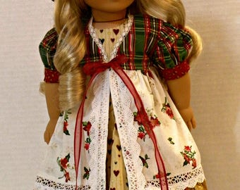 """Holiday Countryside Girl Dress for 18"""" Dolls"""