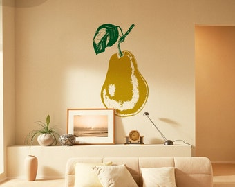 Modern Pear - Vinyl Wall Decal