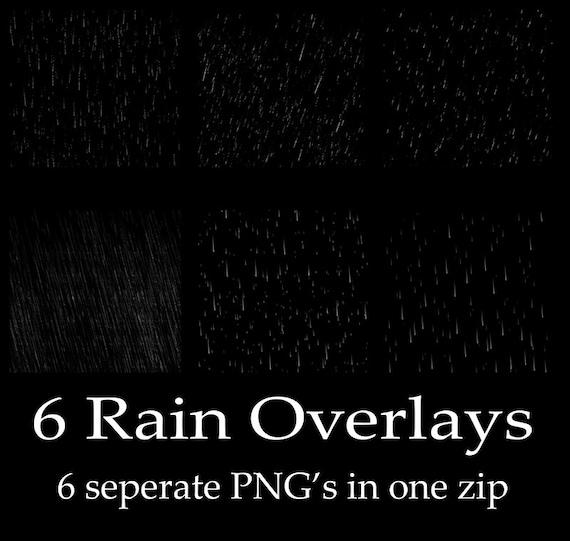 pouring rain Photoshop overlays