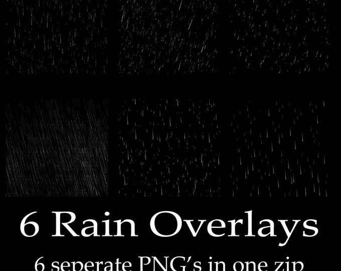 pouring rain Photoshop overlays