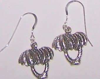 Sterling Silver PALM TREE Earrings - Tropical