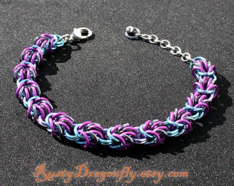 Nebula - Guardians of the Galaxy Inspired Lully Weave Chainmaille Bracelet