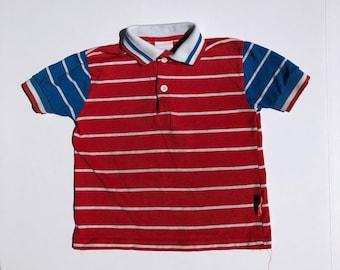 80's Patriotic Colors Polo (4t)