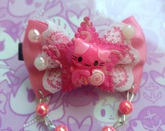 Pink Cute Cat Kawaii Bow