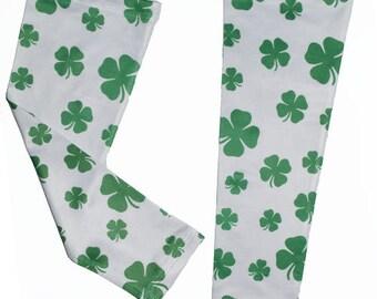 Shamrock St. Patricks Day Running Compression Arm Sleeves