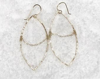 Point Hoop Earrings