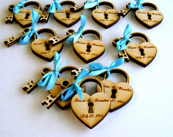 175 Heart and Key Wedding Favors