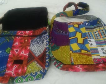 African fabric shoulder bag