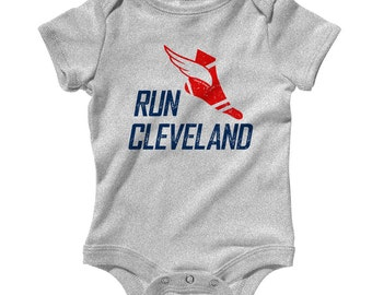 Baby Run Cleveland V3 Romper - Infant One Piece - NB 6m 12m 18m 24m - RUN CLE Baby - Cleveland Baby - 3 Colors