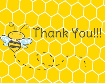 Bumble Bee Birthday Thank You Cards