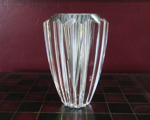 Zodiak Crystal Flower Vase By Orrefors Sweden An Erika