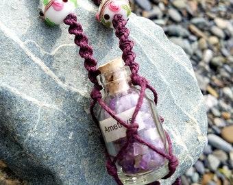 Amethyst In a Jar Necklace