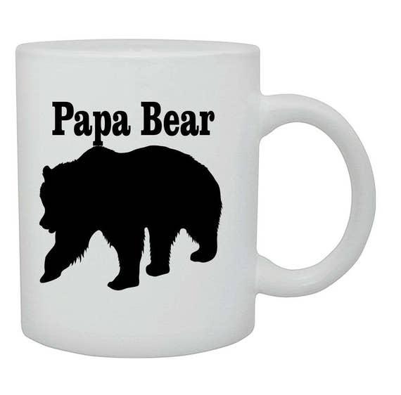 Papa Bear coffee cup/mug, Fathers day gift, Birthday gift, ceramic mug, coffee cup, coffee mug, funny coffee mug, Christmas gift,