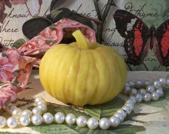 Beeswax Twisted Stem Pumpkin Candle Choice Of Color