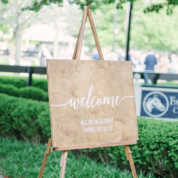 Wedding Sign | Welcome Sign | Easel | Wood Sign | Wedding | Rehearsal Dinner | Rustic | Shabby Chic | Farmhouse | Large | Sign