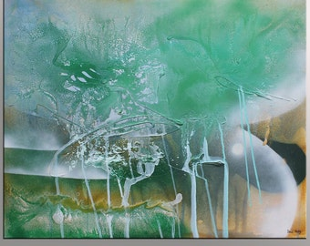 Large Painting, Abstract Canvas Painting, Oil Painting Abstract, Wall Art, Contemporary Art, Wall Art, Original Artwork, Spring, Green