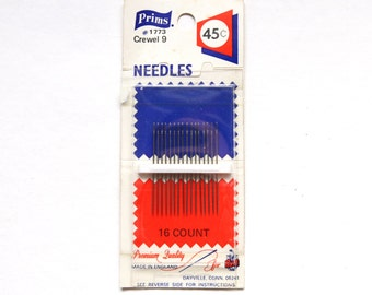 Supplies - Prims Crewel Needles, size 9, 16 count