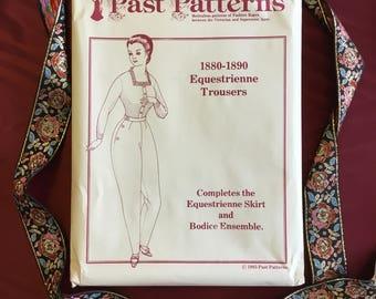 Vintage Late 19th Century Equestrienne Trousers Pattern (Uncut)
