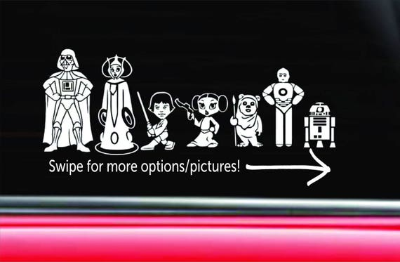 Personalized Star Wars Family Car Decal The Empire - Star wars car decals