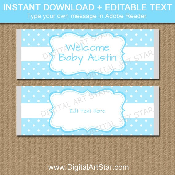 It's just an image of Comprehensive Free Printable Baby Shower Candy Bar Wrappers