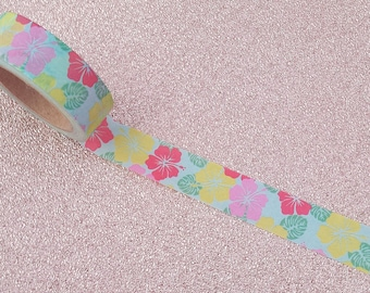 Hibiscus Washi Tape// Flower Washi Tape