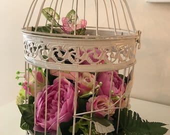 vintage bird cage arrangement