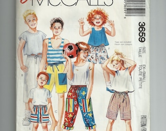 McCall's Boy's; and Girls' Pants and Shorts Pattern 3659