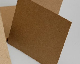 "4X4"" square KRAFT brown CARDMAKERS card blanks"