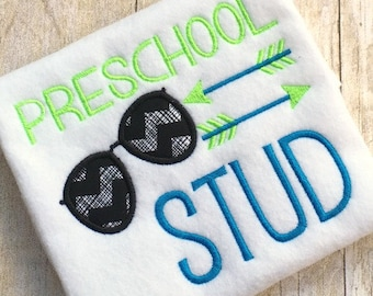 Back to School Embroidery Design - Back to School Applique - School Embroidery Design - Preschool Embroidery Design - Embroidery Saying