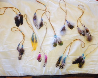 Native American Hair Feather Tie
