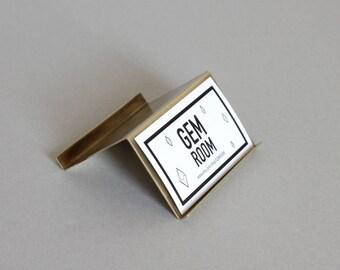 Modern brass Desk Business Card Holder