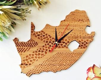 SA Statement Bamboo Clock