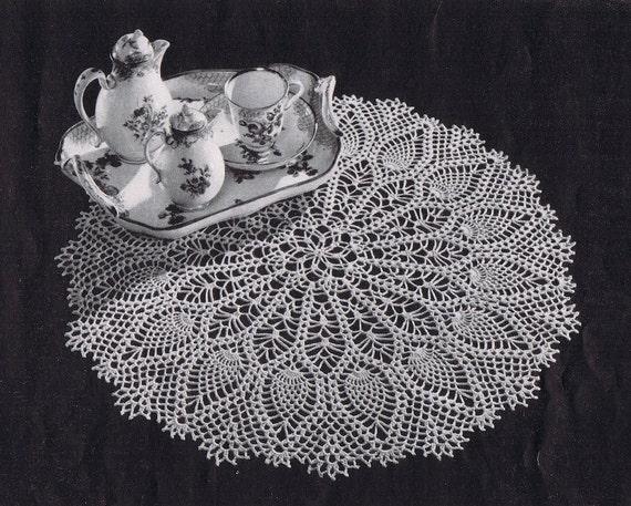 Pdf Large Pineapple Doily Vintage Crochet Pattern C 1953 From