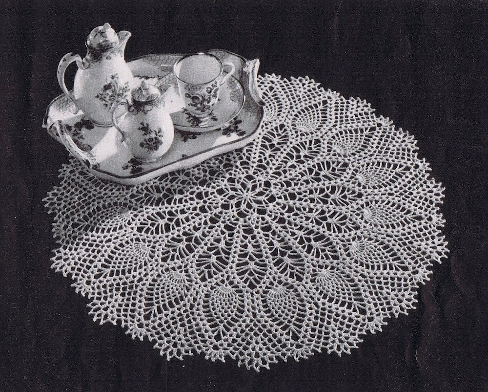 PDF Large Pineapple Doily Vintage Crochet Pattern, c. 1953 from ...
