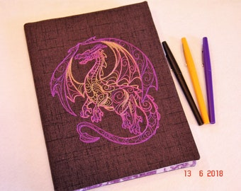 Purple and Gold Dragon Composition Notebook Cover