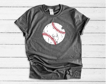 Distressed Baseball t-shirt