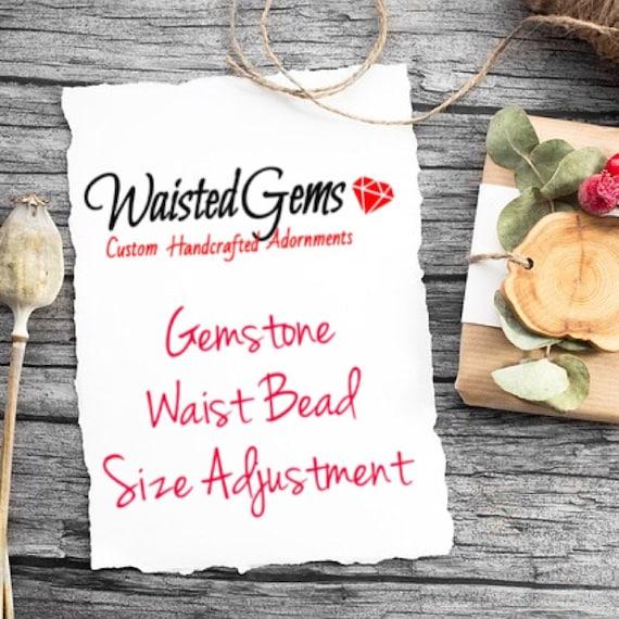 Gemstone Waist Beads Size Adjustment, belly chain, Summer jewelry, Summer party