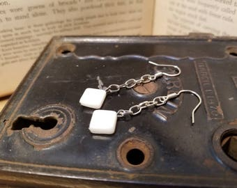 White Mother-of-Pearl Earrings