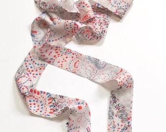 Camellia Skinny Tie