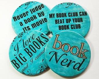 Drink Coasters, Coasters, Book Club Coasters, Hostess Gift, Humor, Tableware, Barware, Book Club, Funny Coasters, Wine Accessories (5095)
