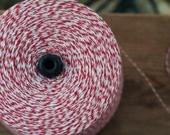 100 yards of Red and White Baker's Twine