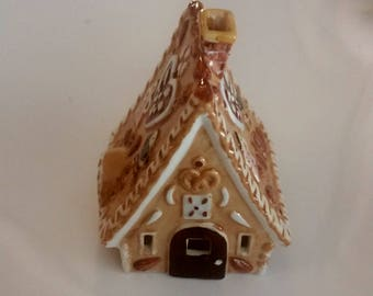 Cute Little Ginger Bread Bell, Christmas Bell, Porcelaine, Witch House Bell, Hansel and Gretel
