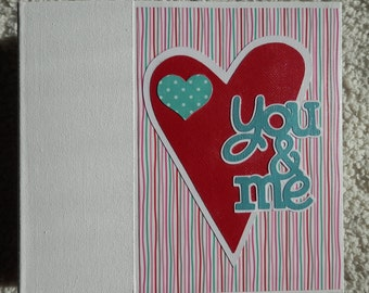 6x6 Love or Couples Chipboard Scrapbook Album Valentines Day